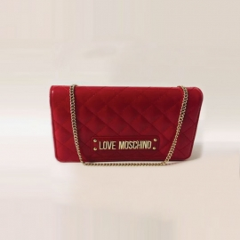 Sac à main en polyuréthane rouge, Love Moschino
