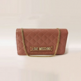 Sac à main en polyuréthane rose, Love Moschino
