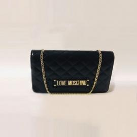 Sac à main en polyuréthane noir, Love Moschino
