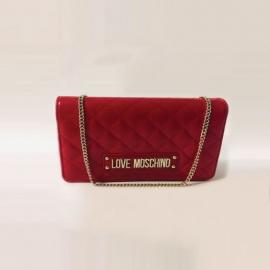 Sac à main en polyuréthane rouge, Love Moschino